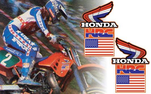 1986 TEAM HONDA MXdN SHROUD DECALS